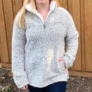 NWT Sherpa Style Jacket ZipUp w/Pockets Cream